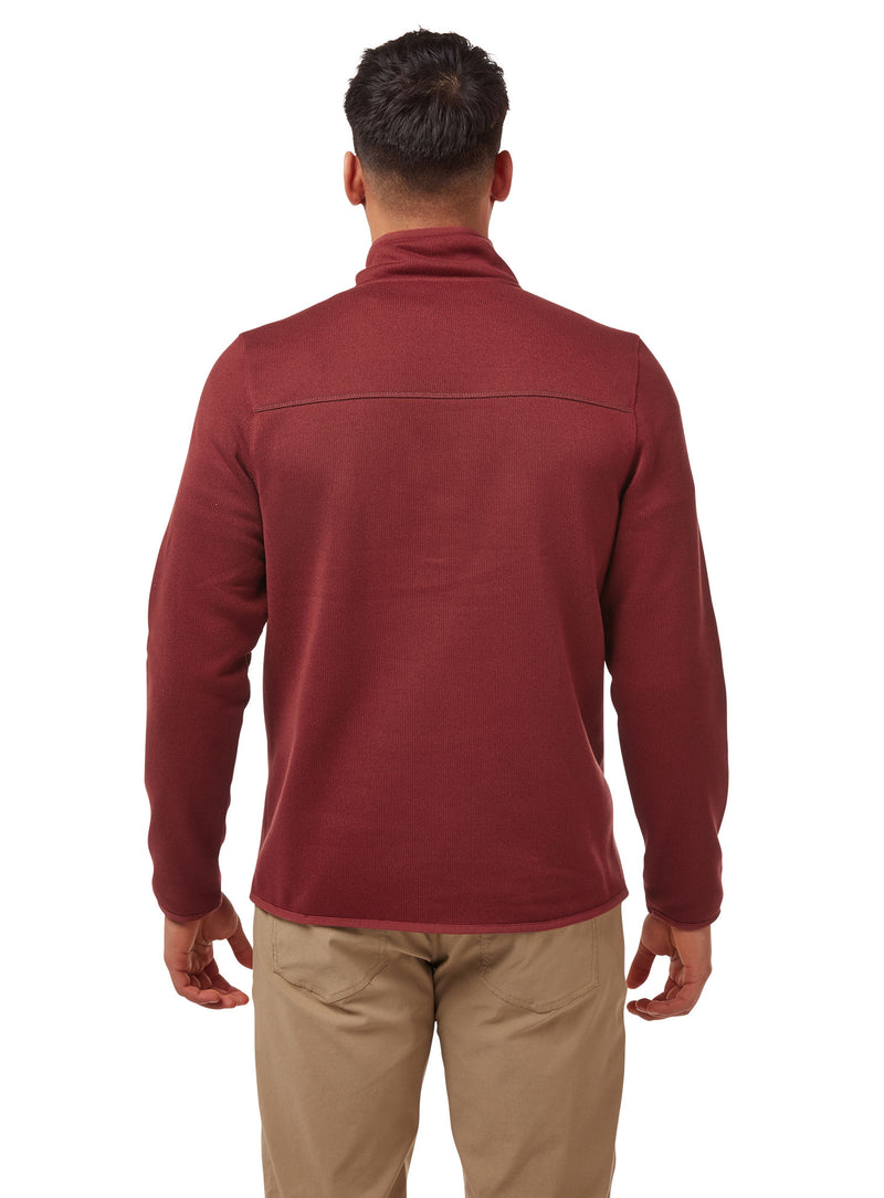 Back View Brick Red Etna Fleece Top by Craghoppers
