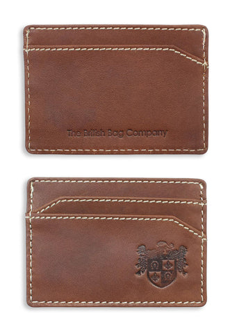 British Bag Company Pull up Leather Card Holder | Brown