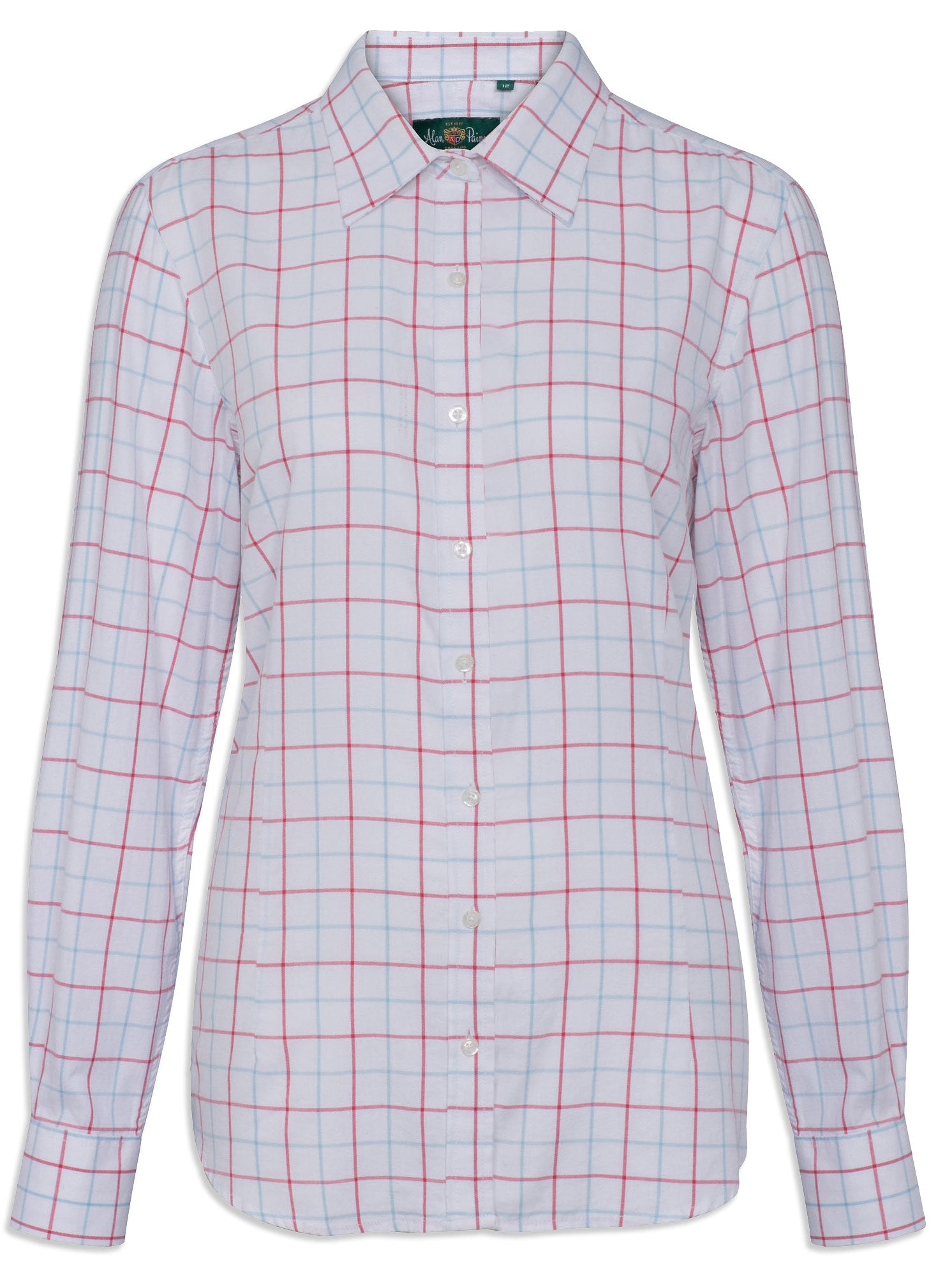 A ladies' Tattersall checked shirt in Red and Blue for a delightfully fresh country look