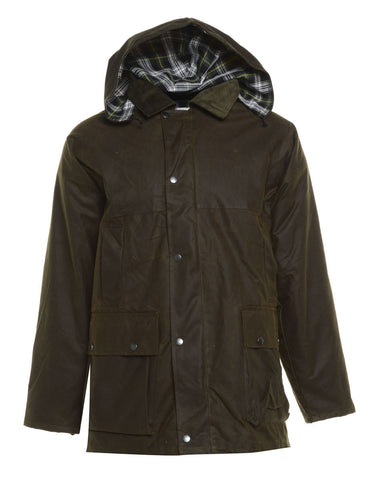 Bronte Wax Cotton Jacket. Brown, Green