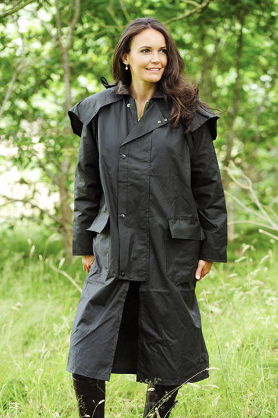 Bronte Long Wax Cotton Coat Hollands Country Clothing