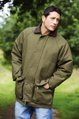 man wearing Classic Country Tweed Field Shooting jacket