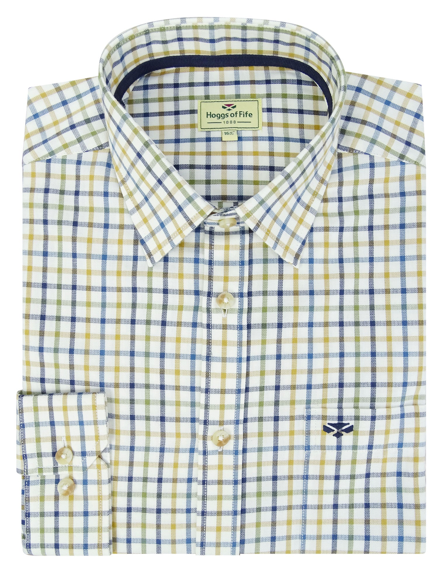 Green Blue Check shirt