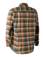Back Deerhunter James Tartan Shirt with Suede Patches