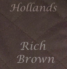 rich brown waxed cotton colour swatch