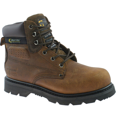 Grafters brown steel toe cap safety boot gladiator size 9