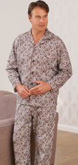 man goes back in time to 1960's pyjamas