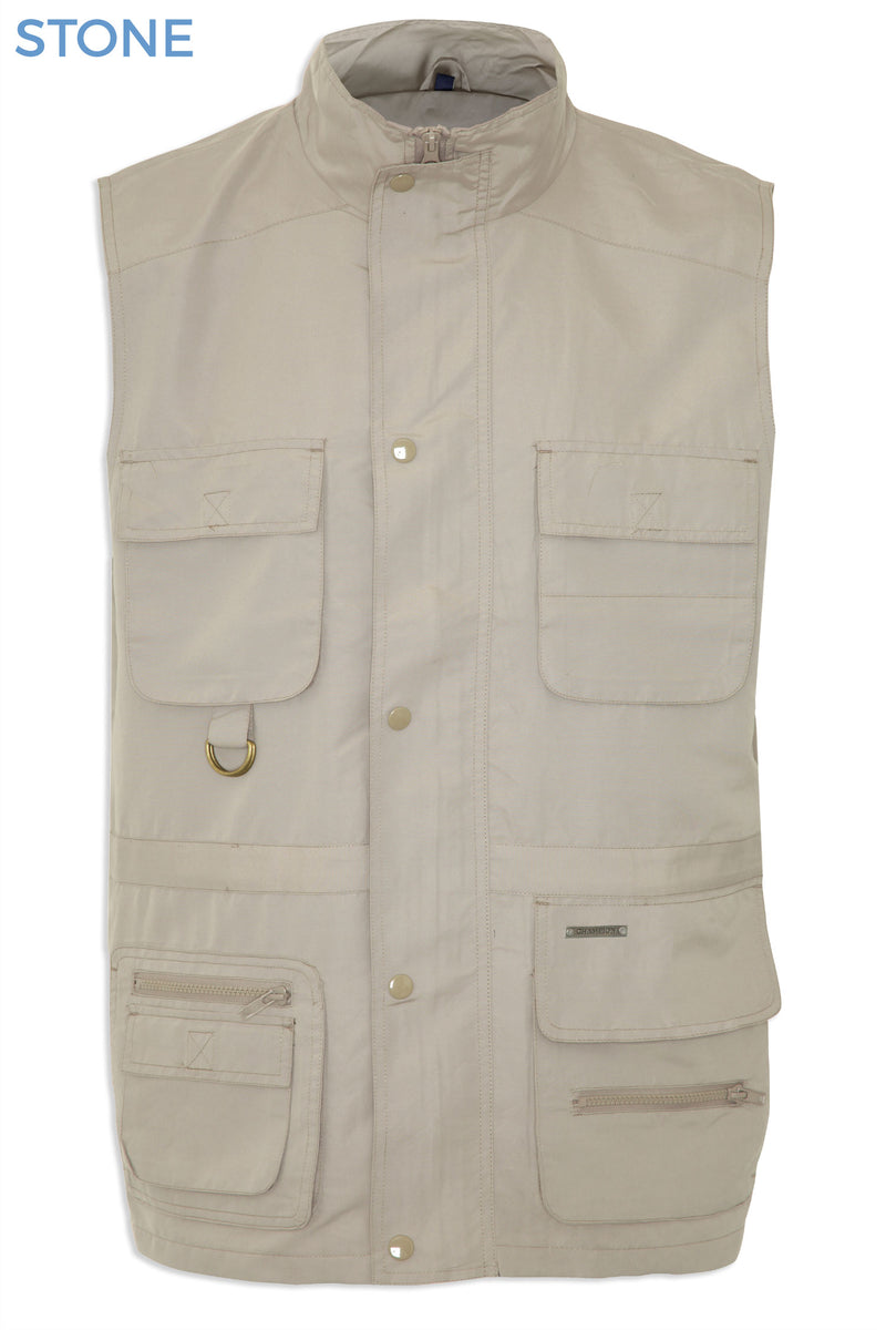 showing zip pockets Windermere Lightweight Multi-Pocket Waistcoat