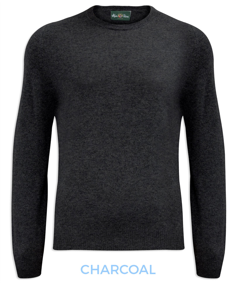 Charcoal Alan Paine Burford Crew Neck Sweater