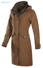Brown the Chelsea Three Quarter length coat combines a waterproof, breathable fabric
