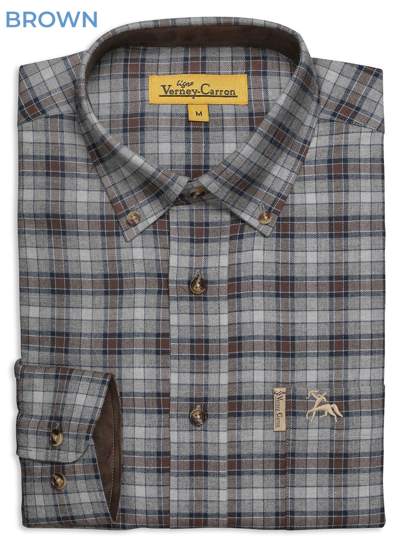 Brown Verney Carron Orleans Check Shirt