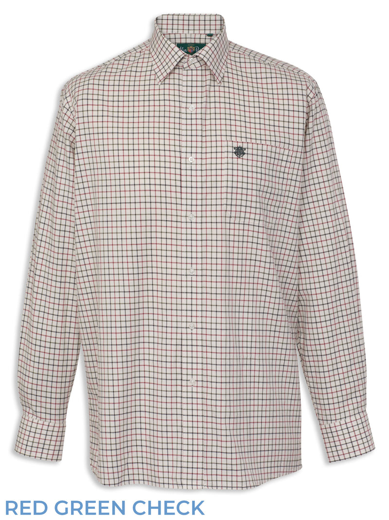 Red Green Check Ilkley Children's Country Tattersall Check Shirt