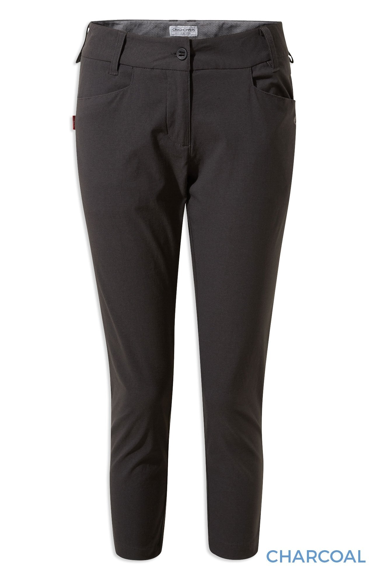 Charcoal Craghoppers NosiLife Clara Crop Trousers