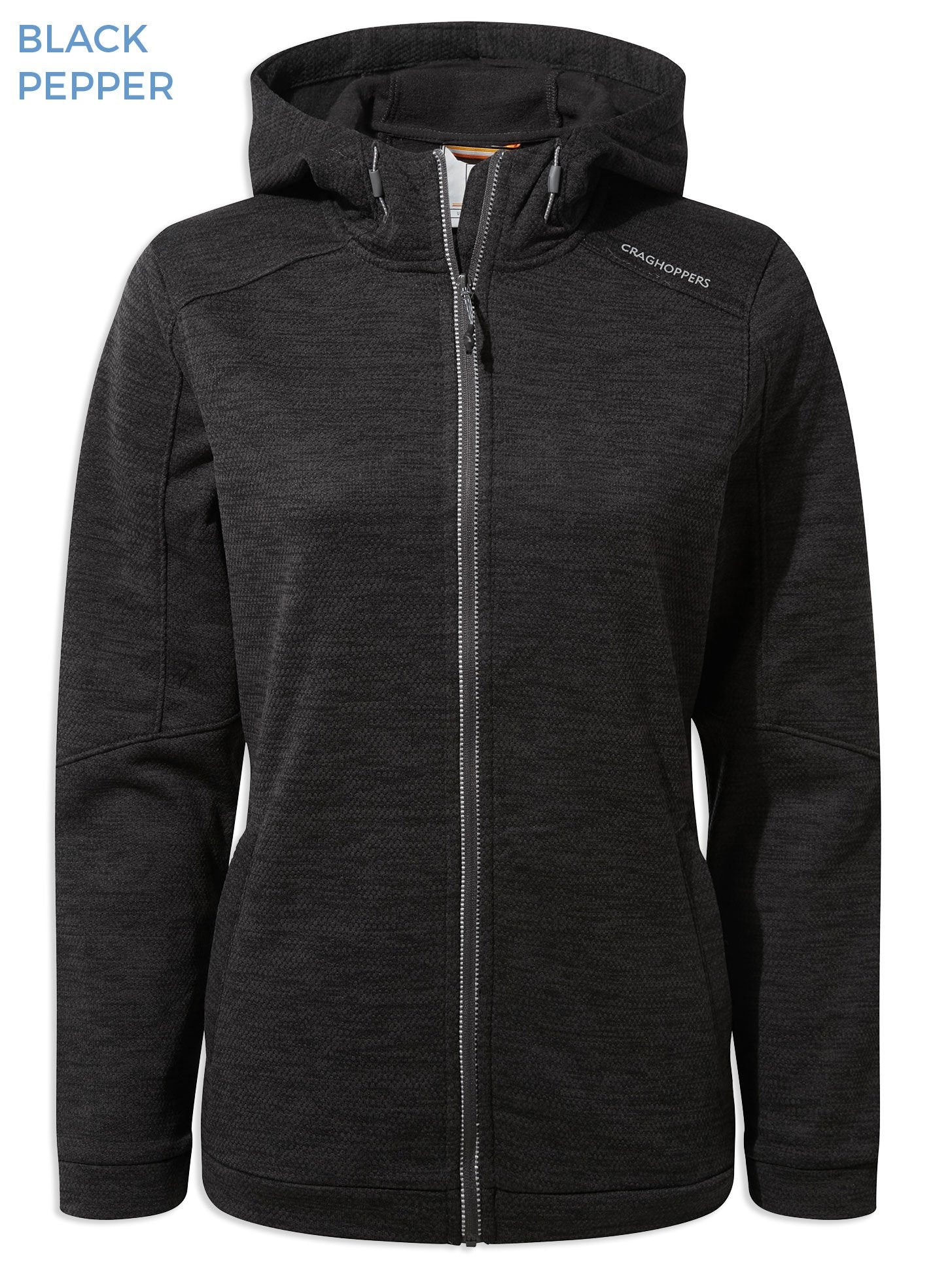 Craghoppers Ladies Strata Hoodie | Black Pepper
