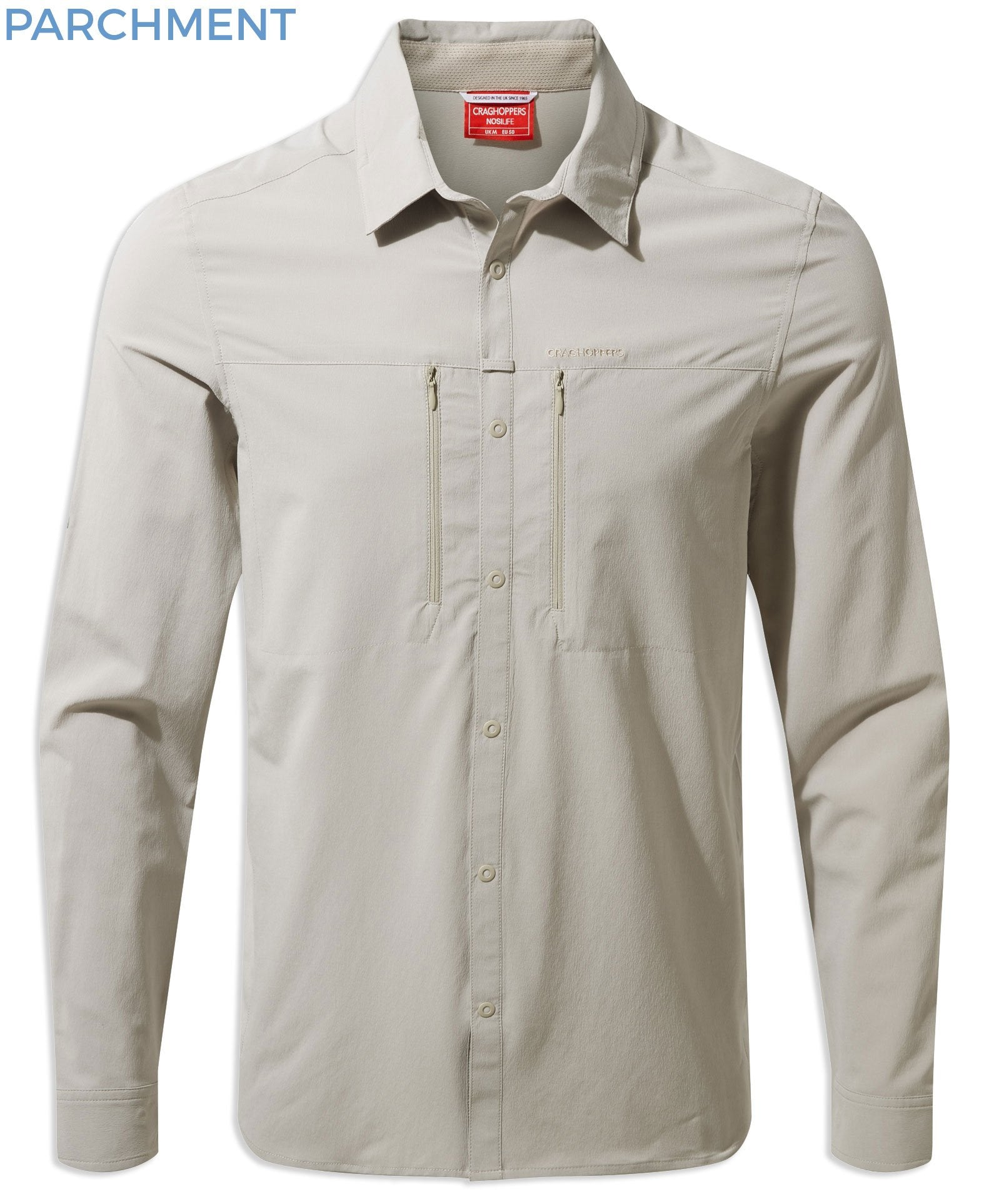Parchment Craghoppers NosiLife PRO Long Sleeve Shirt