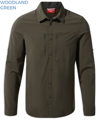 Woodland Green Craghoppers NosiLife PRO Long Sleeve Shirt