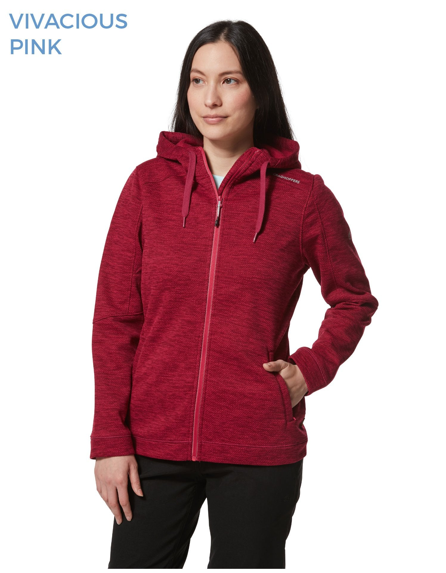 Vivacious Pink Strata Fleece Hoody by Craghoppers