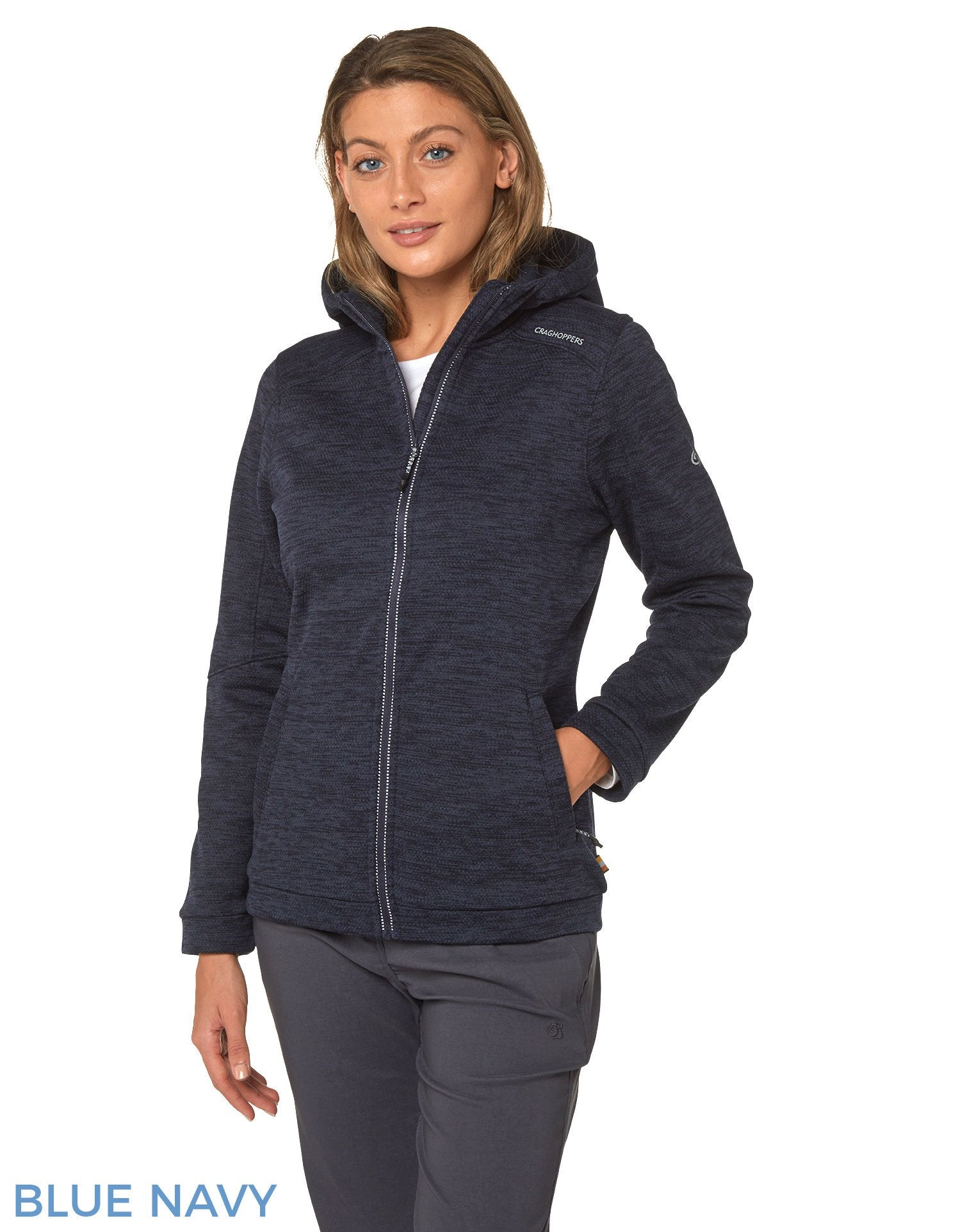 Strata Fleece Hoody by Craghoppers  Blue Navy