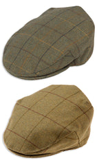 Alan Paine Kids Rutland Waterproof Tweed Flat Cap