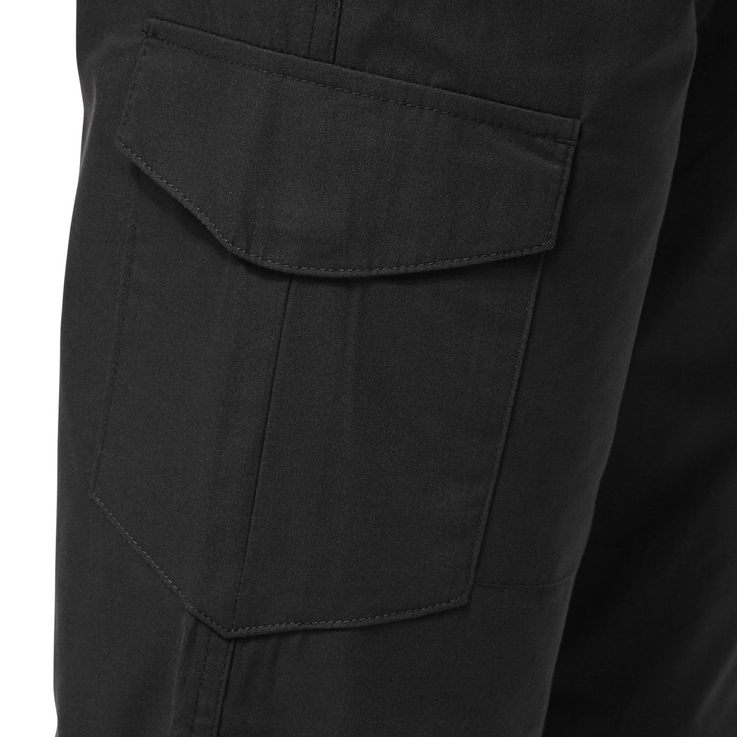 Flap covered cargo pocket