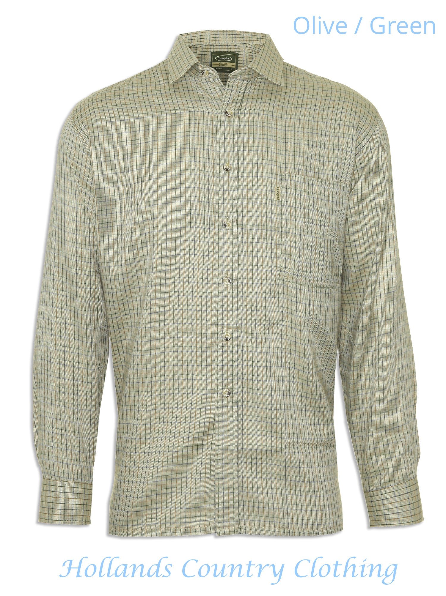 Olive green Champion Cartmel Cotton Rich Shirt (code 3099)