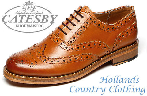 Tan Oxford Brogue shoe from catesby
