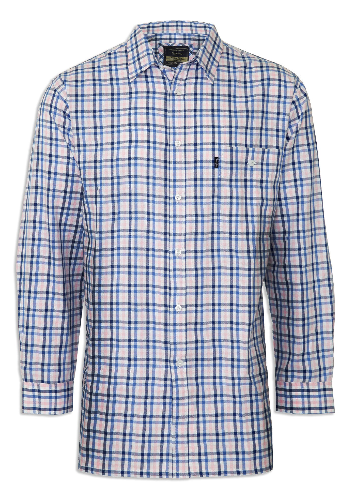 blue champin kningsbrideg smart Regimental check Shirt at very appealing price