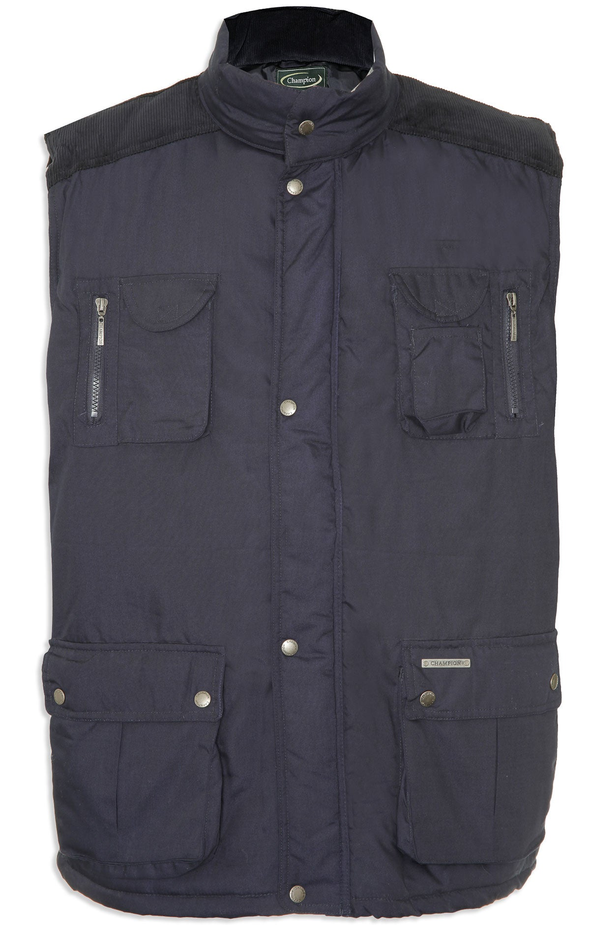navy front view Champion Exmoor Multi Pocket Padded Body Warmer