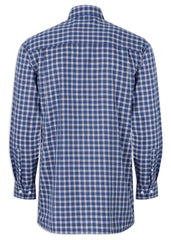 Back View Champion Ashbourne Blue Check Long Sleeve Shirt