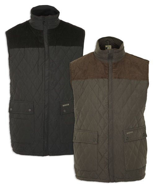 Champion Fleece Lined Quilted Bodywarmer Arundel in Black and Green