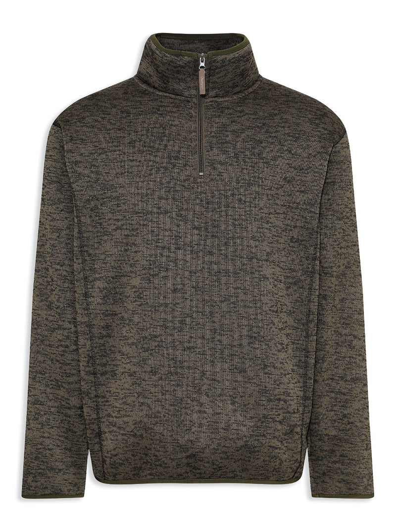 Champion Banff Zip Neck Sweater | Olive & Navy