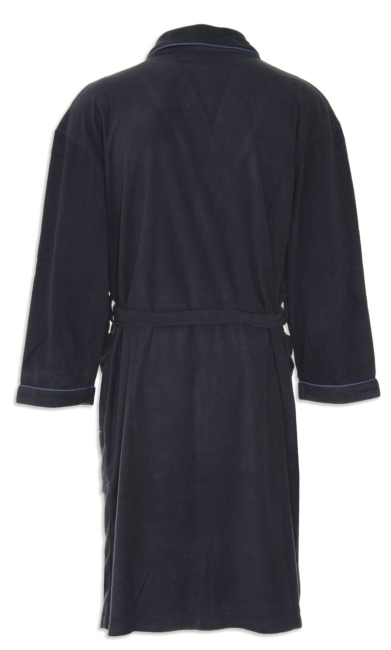navy bath robe