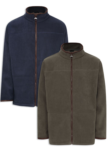 Champion Berwick Micro Fleece Jacket in navy and olive