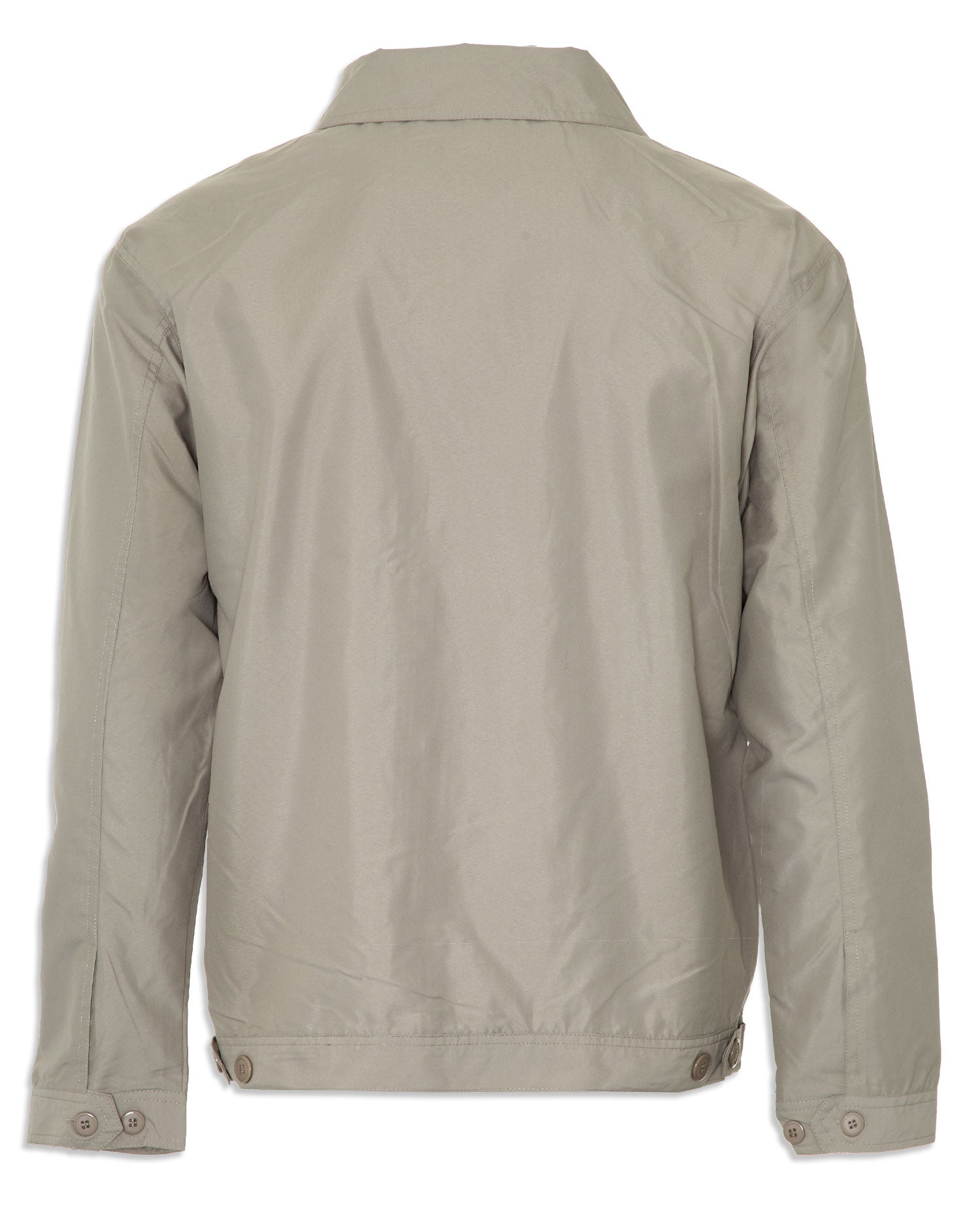 back view Birkdale jacket in stone colour