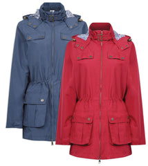 Champion Cromer Lightweight Waterproof Jacket in ruby and navy