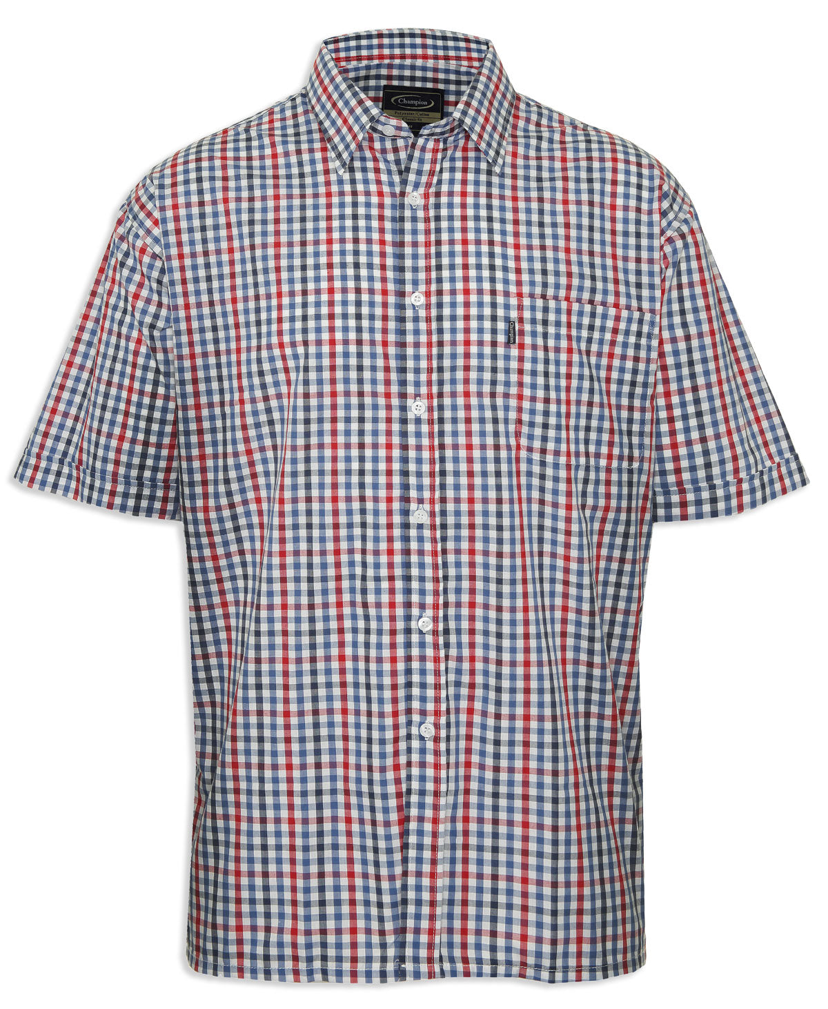 Champion Doncaster Short Sleeved Shirt red blue check