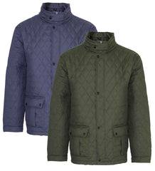 Champion Padstow Quilted Jacket two colours green and blue
