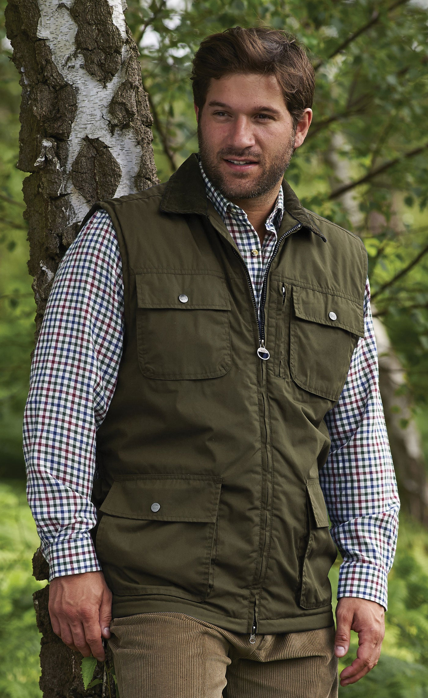 Silverdale Multi Pocket Waistcoat from Champion Outdoor in olive