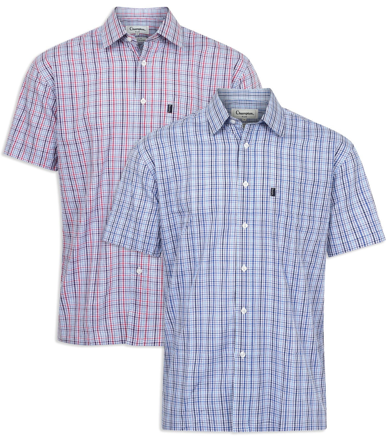 Champion Poole Short Sleeve Shirt in Red Or Blue