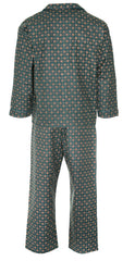 rear view pair of pyjamas by champion blue sea pyjamas all pure cotton