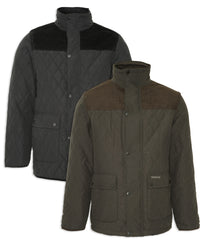 Champion Lewis Diamond Quilted Jacket | Black & Olive