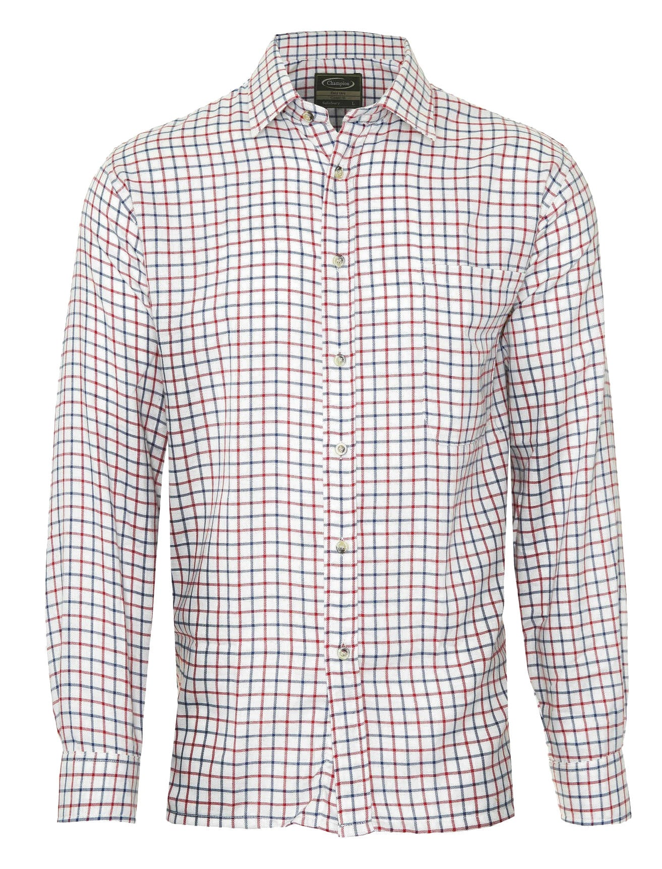 red tattersall Champion Salisbury Country Check Shirt