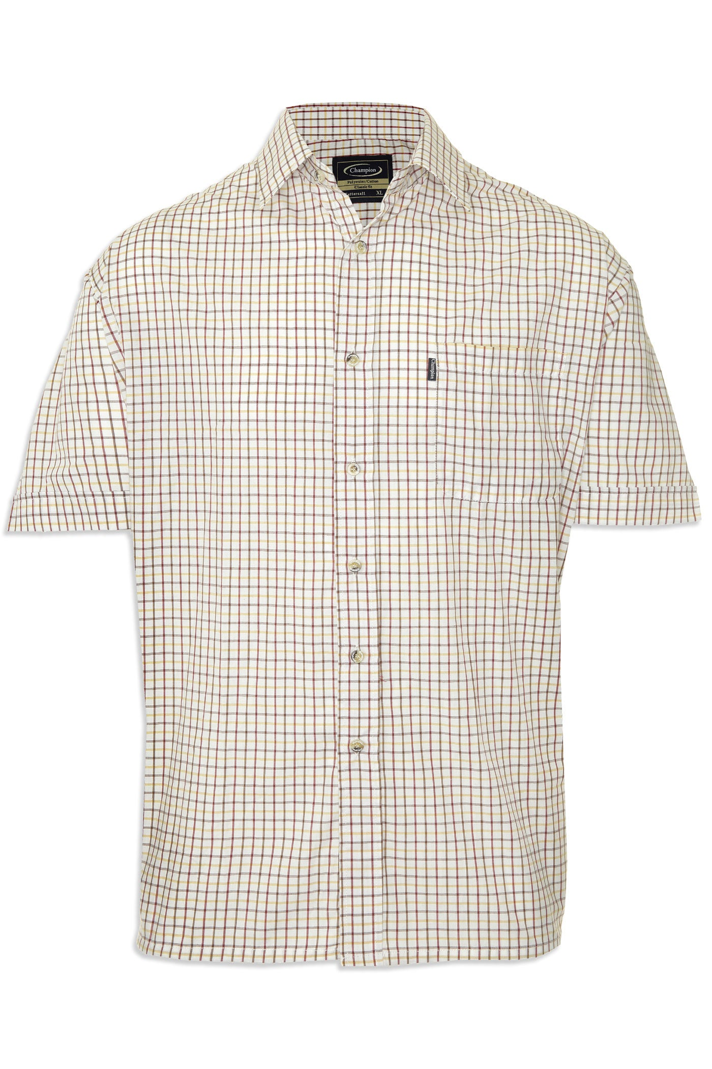 red check Champion summer Tattersall, the classic country tattersall check shirt with short sleeves, ideal for summer