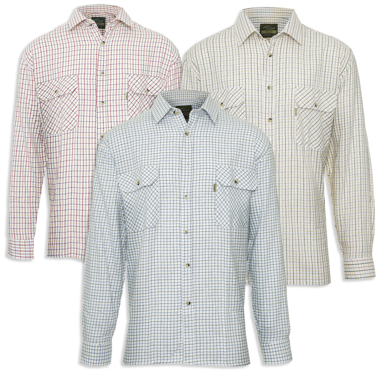 champion 100 cotton tattersall check shirt hollands country clothing