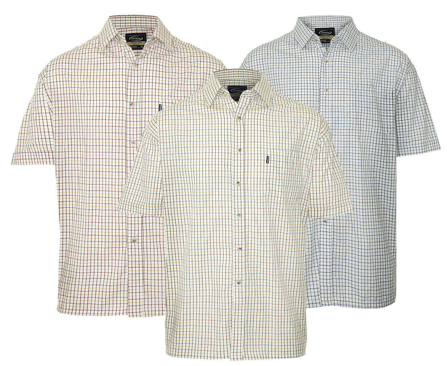 Champion summer Tattersall, the classic country tattersall check shirt with short sleeves, ideal for summer