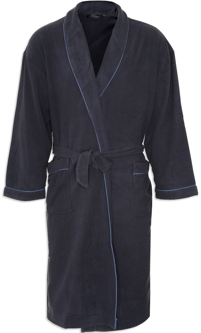 Champion Hampstead Microfleece Dressing Gown navy colour