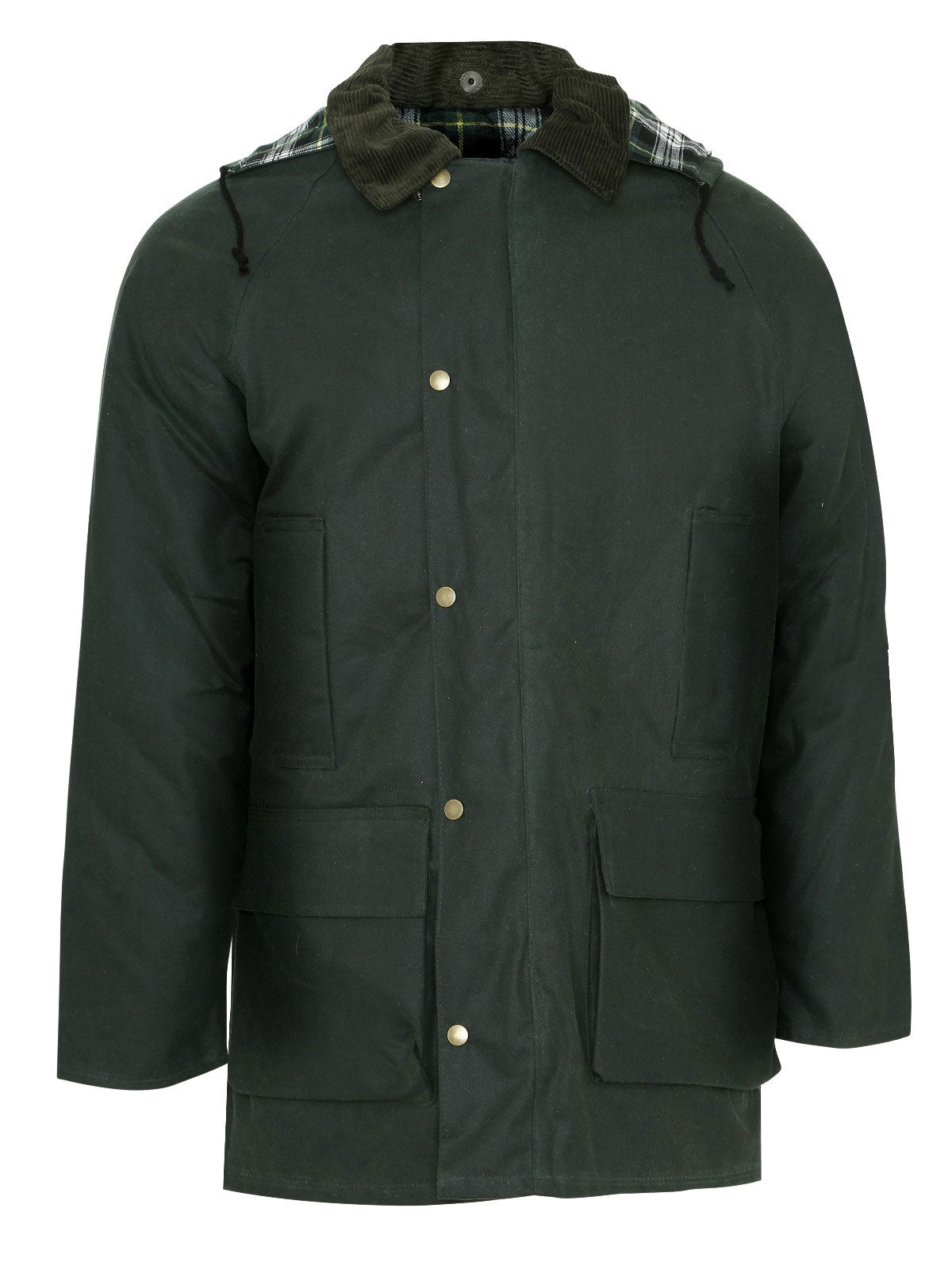 Champion Howick Waxed Cotton Coat olive green
