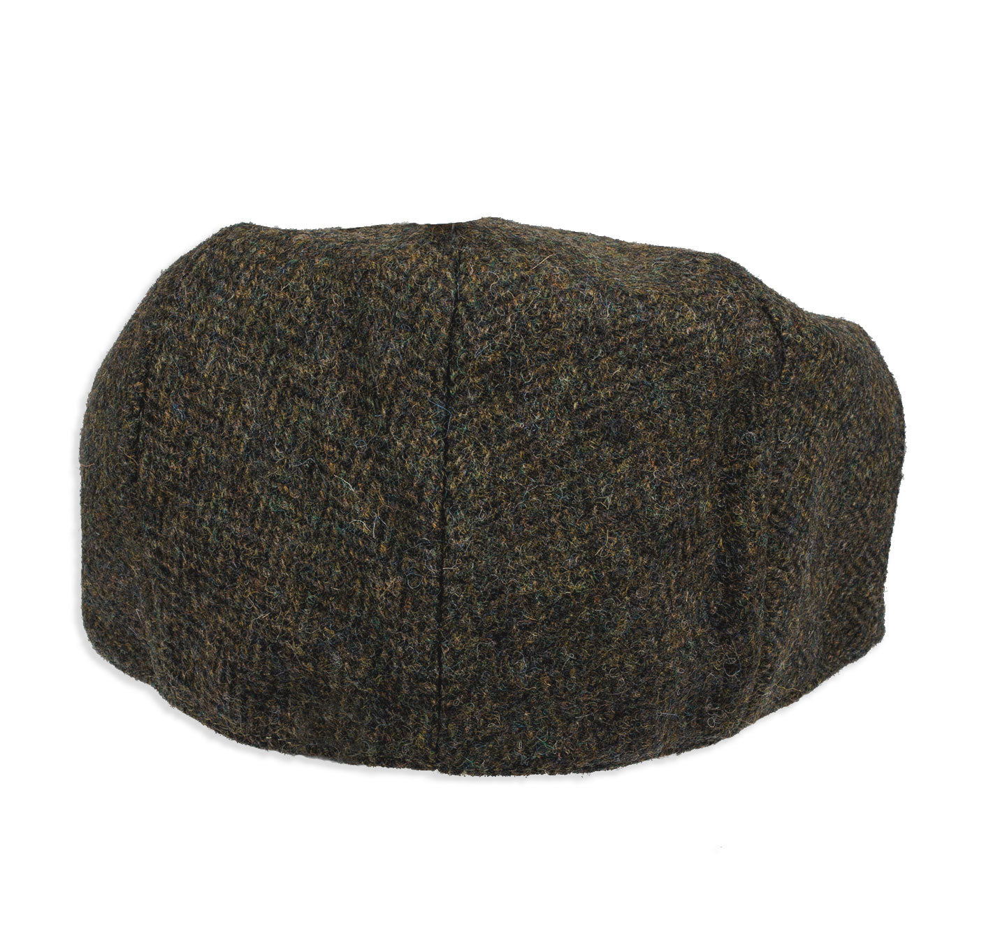 rear view Chapman Green Herringbone Tweed Flat Cap
