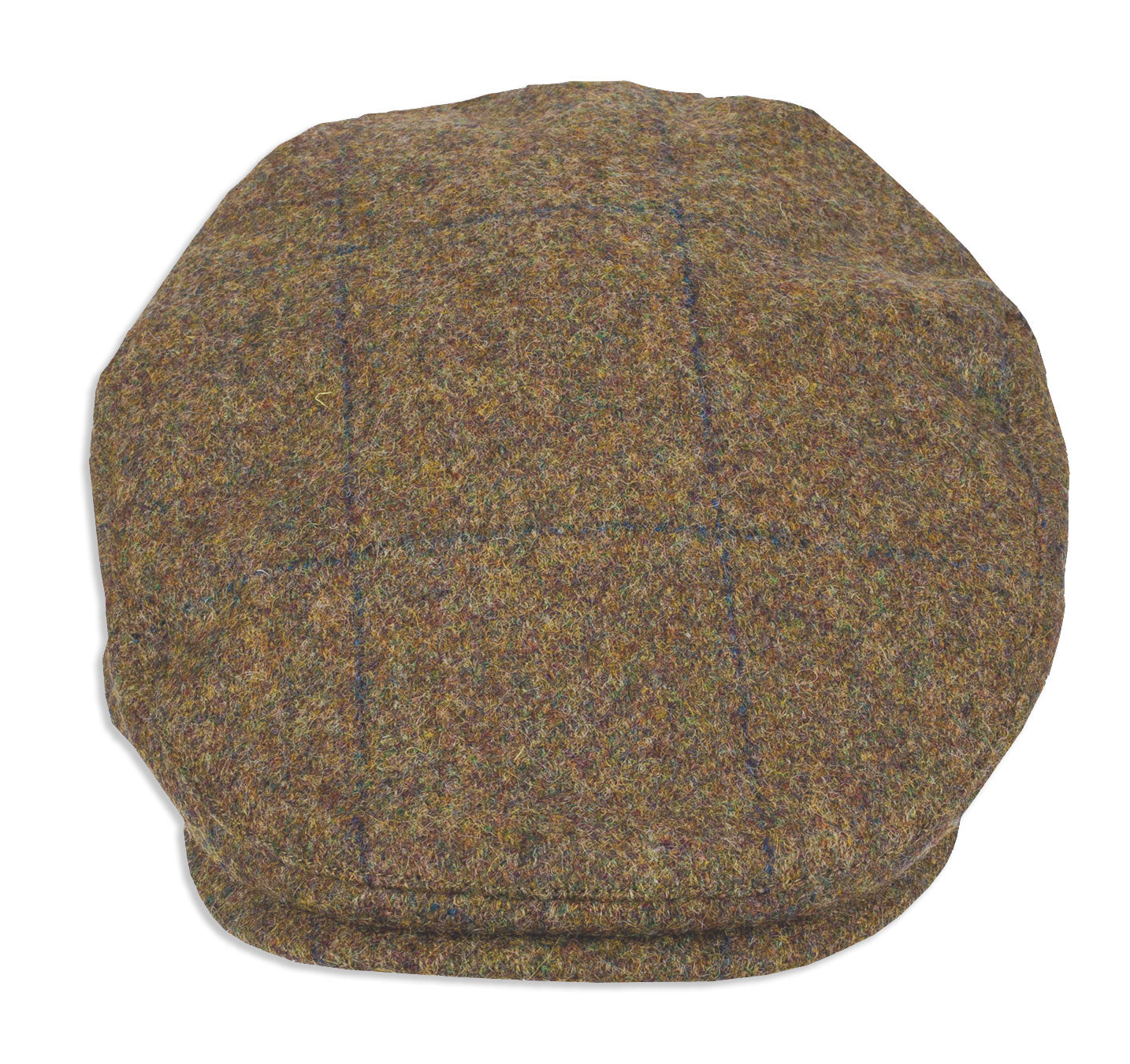 A traditionally styled flat cap made from British tweed.