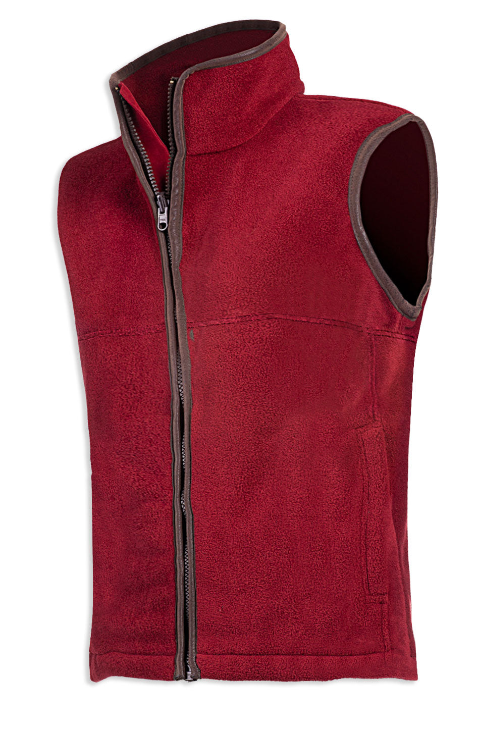 burgundy Baleno Wizz Kids Fleece Gilet